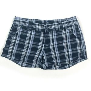 """Maurices Plaid Shorts Low Rise Cotton 3"""" Inseam"""